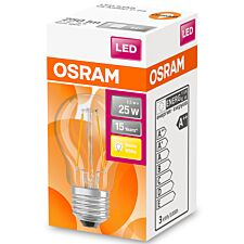 Osram Globe 25W LED Filament Clear ES Bulb