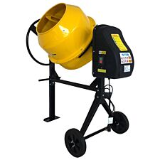 Charles Bentley 140L 230V 550W Portable Cement Concrete Mixer With Wheels