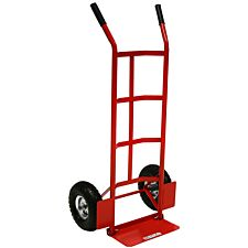 Charles Bentley 200kg Sack Truck Heavy Duty Foldable Toe Plate Hand Trolley - Red