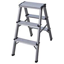 Charles Bentley Folding 3 Step Aluminimum Ladder