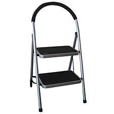 Charles Bentley 2 Step Tread, Folding, Lightweight Step Ladder