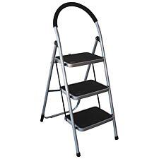 Charles Bentley 3 Step Tread, Folding, Lightweight Step Ladder