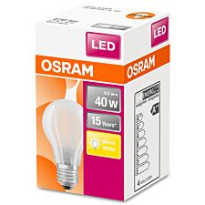 Osram 40W Classic A Frosted ES LED Bulb - Warm White