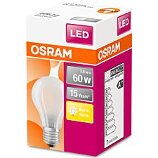 Osram 60W Classic A Frosted ES LED Bulb - Warm White