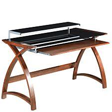 Jual Helsinki Curve Walnut/Glass Desk 1300
