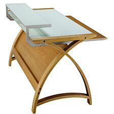 Jual Helsinki Curve Oak/Glass Desk 1300