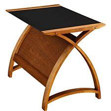 Jual Helsinki Curve Walnut/Glass Laptop Desk 900