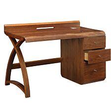 Jual Santiago Curve Walnut Pedestal Desk