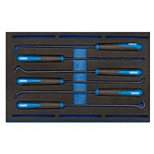 Draper Long Reach Hook And Pick Set In 1/4 Drawer EVA Insert Tray (6 Piece)