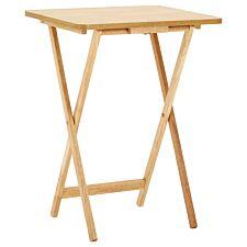 Premier Housewares Snack Table - Natural Wood Veneer Top