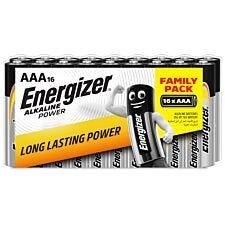 Energizer AAA Alkaline Power 16 Battery Pack