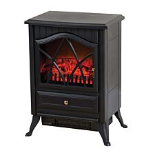 Daewoo Small Stove Flame Effect 2kw Heater Black