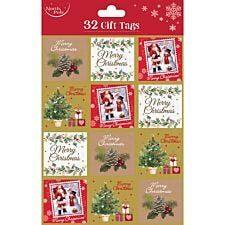 North Pole Traditional Gift Tags - 32pk