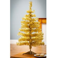 3ft Robert Dyas Gold Tinsel Tree