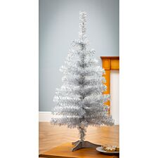 3ft Robert Dyas Silver Tinsel Christmas Tree