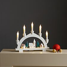 Robert Dyas Battery Operated Wooden Candle Bridge