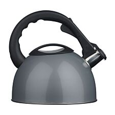 Premier Housewares 2.5L Stainless Steel Whistling Kettle - Silver