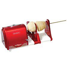 Smart Worldwide Retro Electric Spiral Twister Peeler - Red