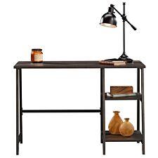 Teknik Industrial Style Bench Desk Smoked Oak