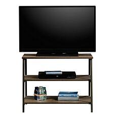 Teknik Industrial Style TV Stand with Trestle Shelf - Smoked Oak