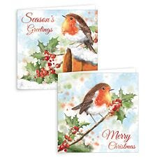 Giftmaker 10 Square Cards - Traditional Robin