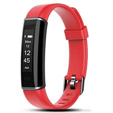 Aquarius AQ113HR Fitness Tracker With Heart Rate Monitor - Red