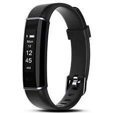 Aquarius AQ113HR Fitness Tracker With Heart Rate Monitor - Black