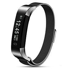 Aquarius AQ115HR Signature Edition Fitness Tracker With Heart Rate Monitor - Metal Strap Space Grey