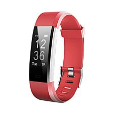 Aquarius AQ125HR Fitness Tracker With Heart Rate Monitor – Red