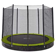 Plum 8ft Circular In Ground Trampoline with Enclosure