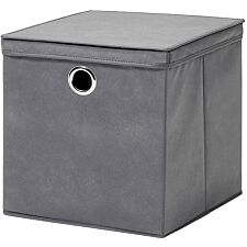 H&L Russel Extra Large Non-Woven Storage Box with Lid - Grey