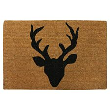 Home Essentials Deer Welcome Coir Doormat - Natural