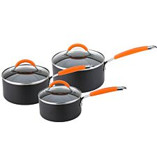 Joe Wicks Easy Release Aluminium Non-stick Saucepan Set - 3 Piece