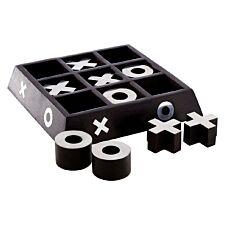 Premier Churchill Games Tic Tac Toe - Black Mango Wood
