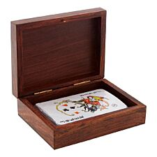 Premier Churchill Card Box With Playing Cards - Sheesham Wood