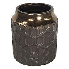 Premier Housewares Zircon Ceramic Planter Metallic - Small