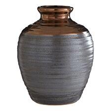 Premier Housewares Zamak Barrel Vase Metallic Ceramic - Large