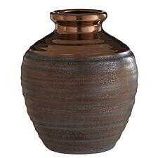 Premier Housewares Zamak Barrel Vase Metallic Ceramic - Small