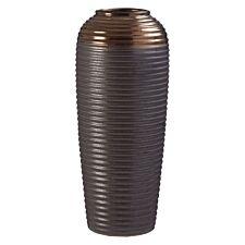 Premier Housewares Zamak Vase Metallic Ceramic - Large