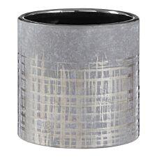 Premier Housewares Embra Ceramic Planter in Grey/Silver Finish - Small