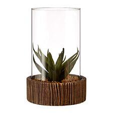 Premier Housewares Large Faux Succulent with Natural Stone Base