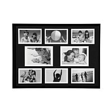 """Premier Housewares Collage Photo Frame in Black Plastic - 6 of 4 x 6"""", 2 of 5 x 7"""""""