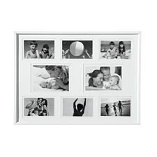 """Premier Housewares Collage Photo Frame in White Plastic - 6 of 4 x 6"""", 2 of 5 x 7"""""""