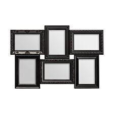 "Premier Housewares Multi Photo Frame 6 Photo - Black Plastic Frame 4 x 6"""