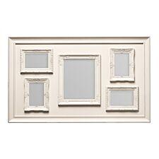 "Premier Housewares Multi Photo Frame, 5 Photo Cream Plastic Frame - 1 Rectangular 8x10, 4 Rectangular 4x6"""