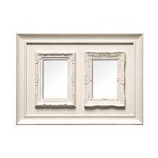 "Premier Housewares Multi Photo Plastic Frame, 2 Photo 4 x 6"" - Cream"