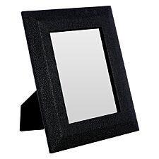 Premier Housewares Pacific Photo Frame Black Faux Shark Skin 5in x 7in