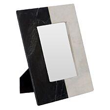 Premier Housewares Kira Photo Frame (4In X 6In) - Marble Black/White