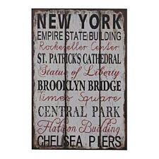 Premier Housewares Wall Plaque New York
