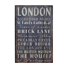Premier Housewares Wall Plaque London